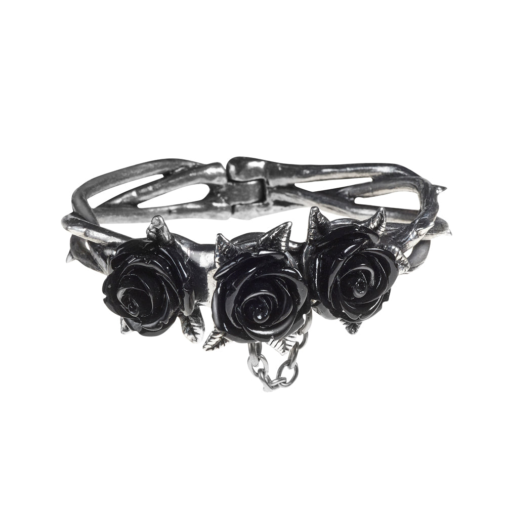 Alchemy Gothic Wild Black Rose Bracelet from Gothic Spirit