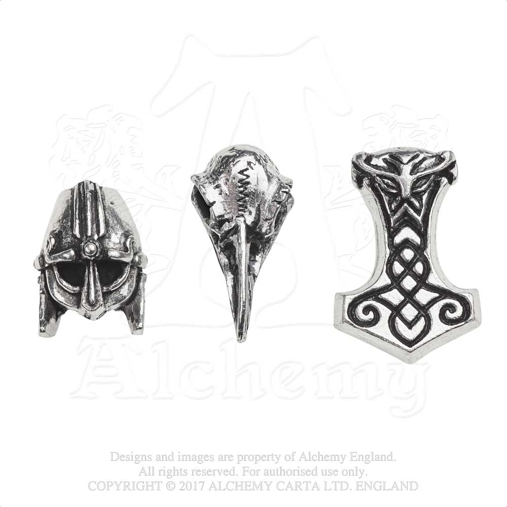 Alchemy Gothic Norsebraid Hair Beads Beard Beads from Gothic Spirit