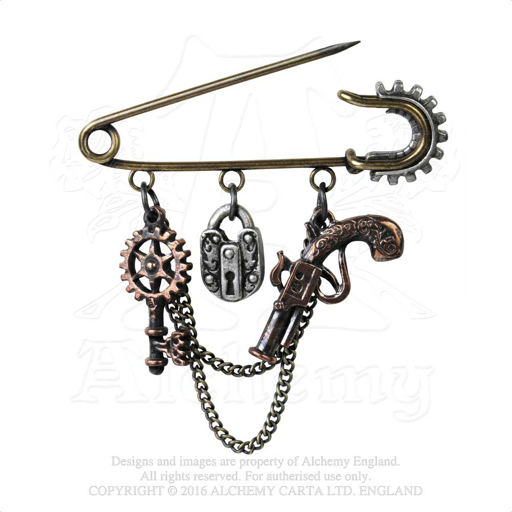 Alchemy Empire: Steampunk Artificer's Utility Pin Kilt/Safety Pin - Gothic Spirit