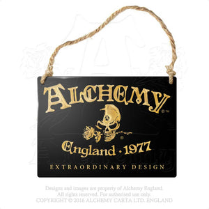 Alchemy Gothic Alchemy England 1977 Metal Sign from Gothic Spirit