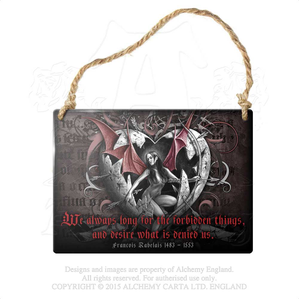 Alchemy Gothic ...Forbidden Things... Metal Sign from Gothic Spirit