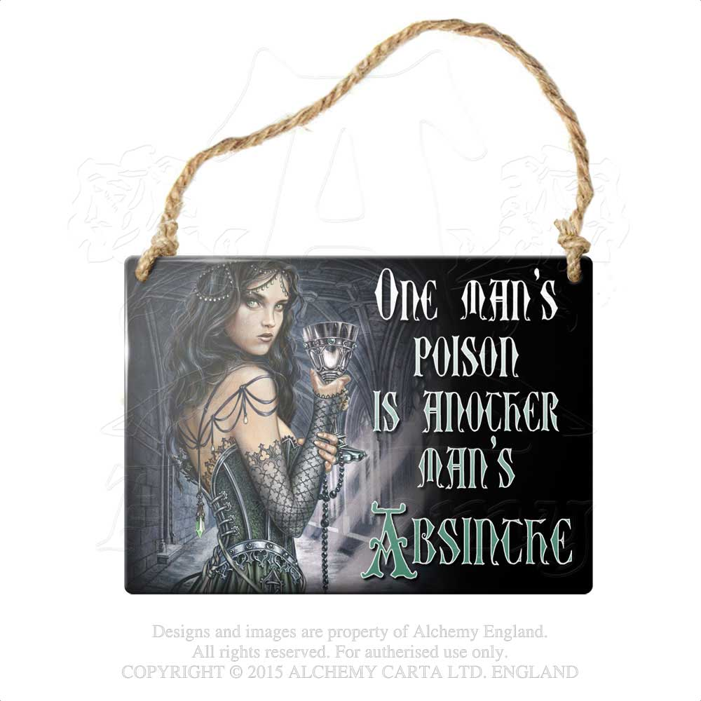 Alchemy Gothic One Man's Poison... Metal Sign from Gothic Spirit
