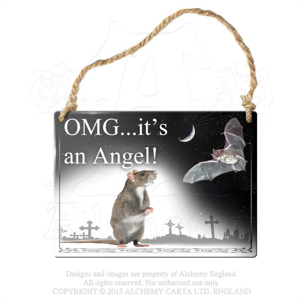 Alchemy Gothic Omg...It's An Angel! Metal Sign from Gothic Spirit