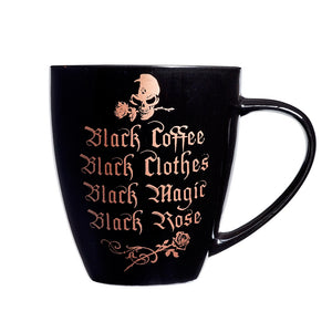 Alchemy Gothic Black Coffee, Black Clothes... Ceramic Mug from Gothic Spirit