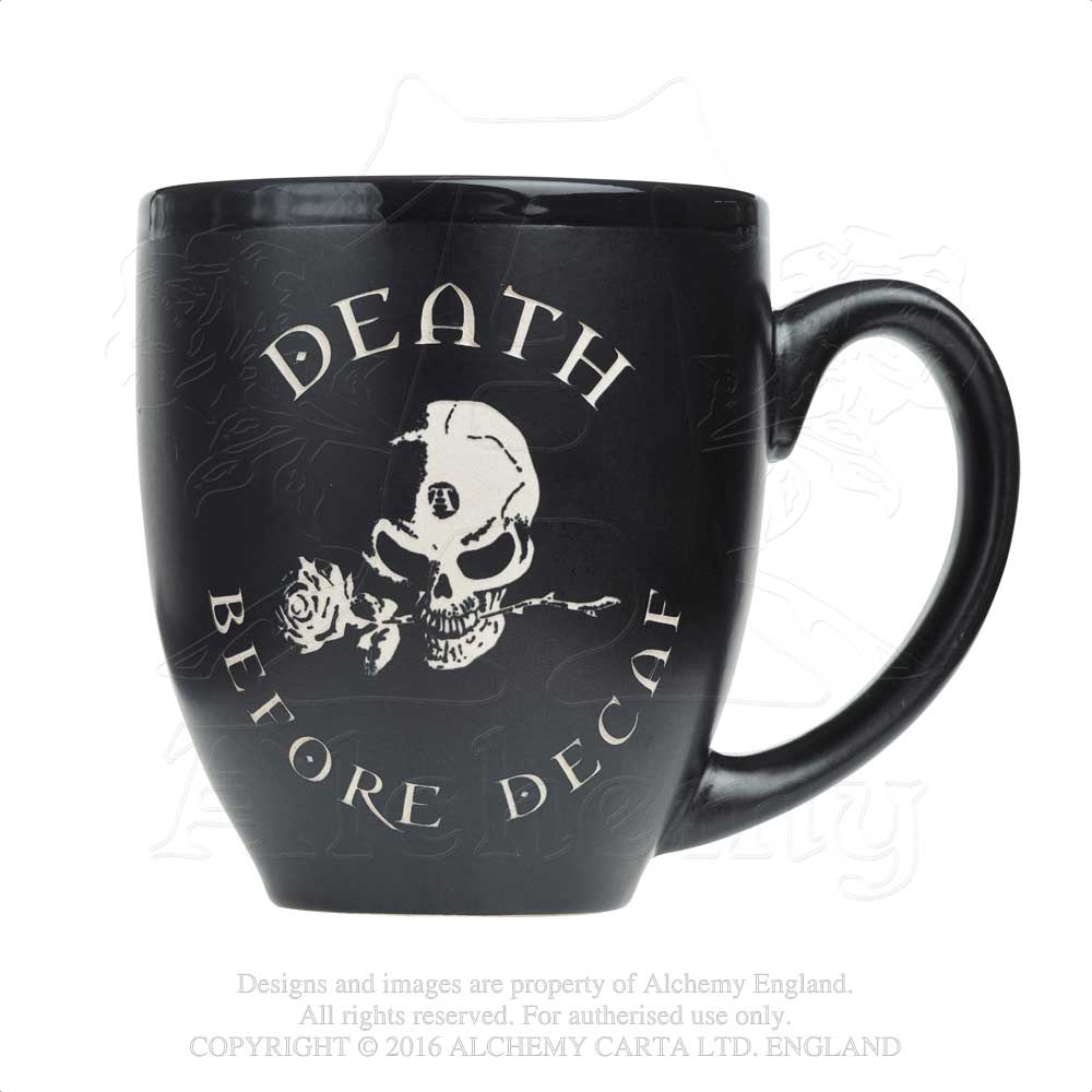 Alchemy Gothic Death Before Decaf Ceramic Mug from Gothic Spirit