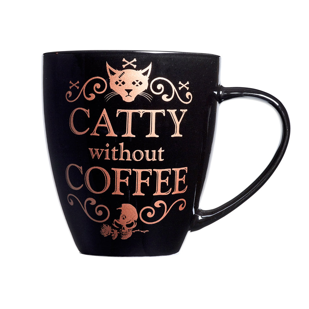 Alchemy Gothic Catty Without Coffee Ceramic Mug from Gothic Spirit