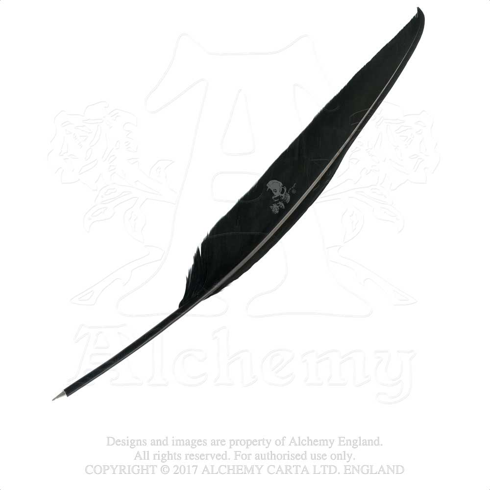 Alchemy Gothic The Alchemist's Black Feather Quill Pen Quill Pen - Gothic Spirit