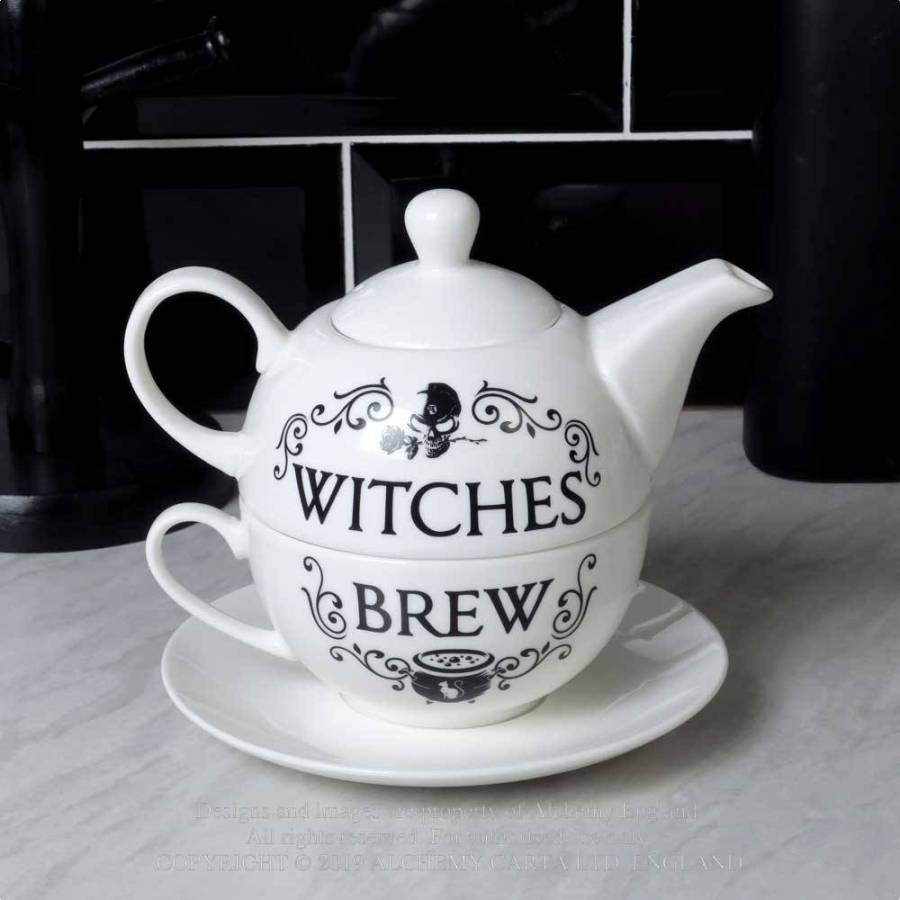 Alchemy Gothic Witches Brew Tea Set from Gothic Spirit
