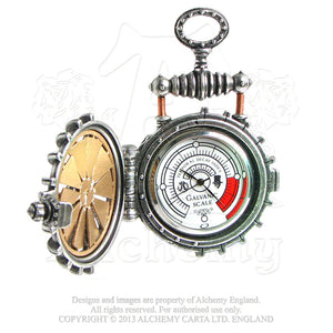 Alchemy Empire: Steampunk Eer Solar Powered Turbine Fob Watch - Gothic Spirit