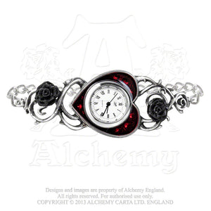 Alchemy Gothic Bed Of Blood Roses Watch - Gothic Spirit