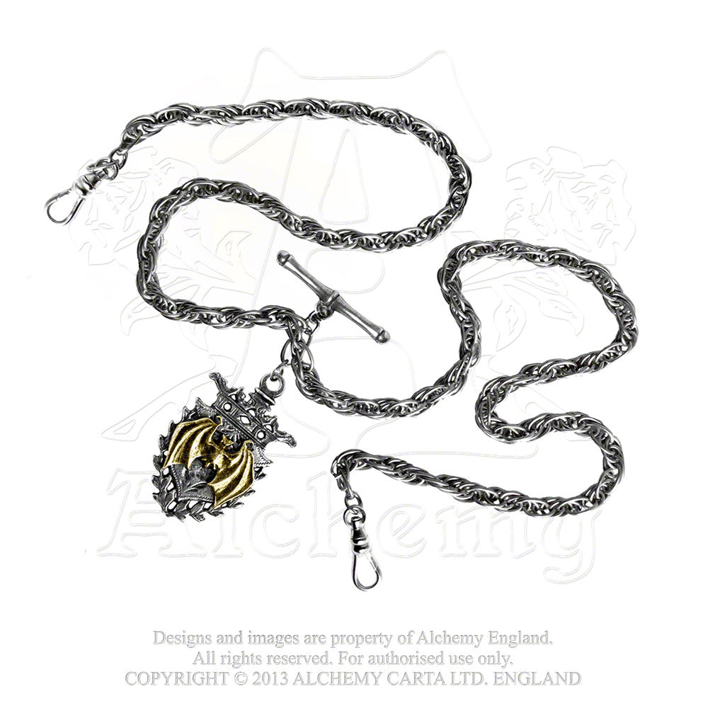 Alchemy Gothic Magistus' Double-Albert Wallet Chain from Gothic Spirit