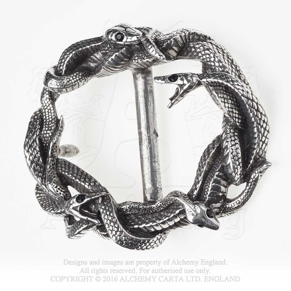 Alchemy Gothic Viper's Nest Belt Buckle - Gothic Spirit