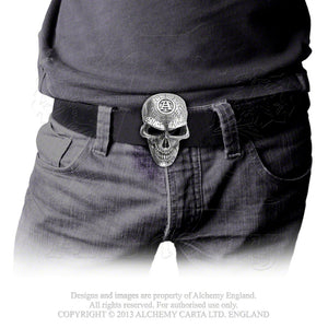 Alchemy Gothic Omega Skull Belt Buckle from Gothic Spirit