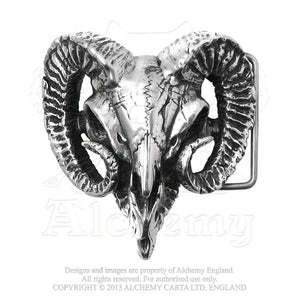 Alchemy Gothic Ram's Skull Belt Buckle from Gothic Spirit