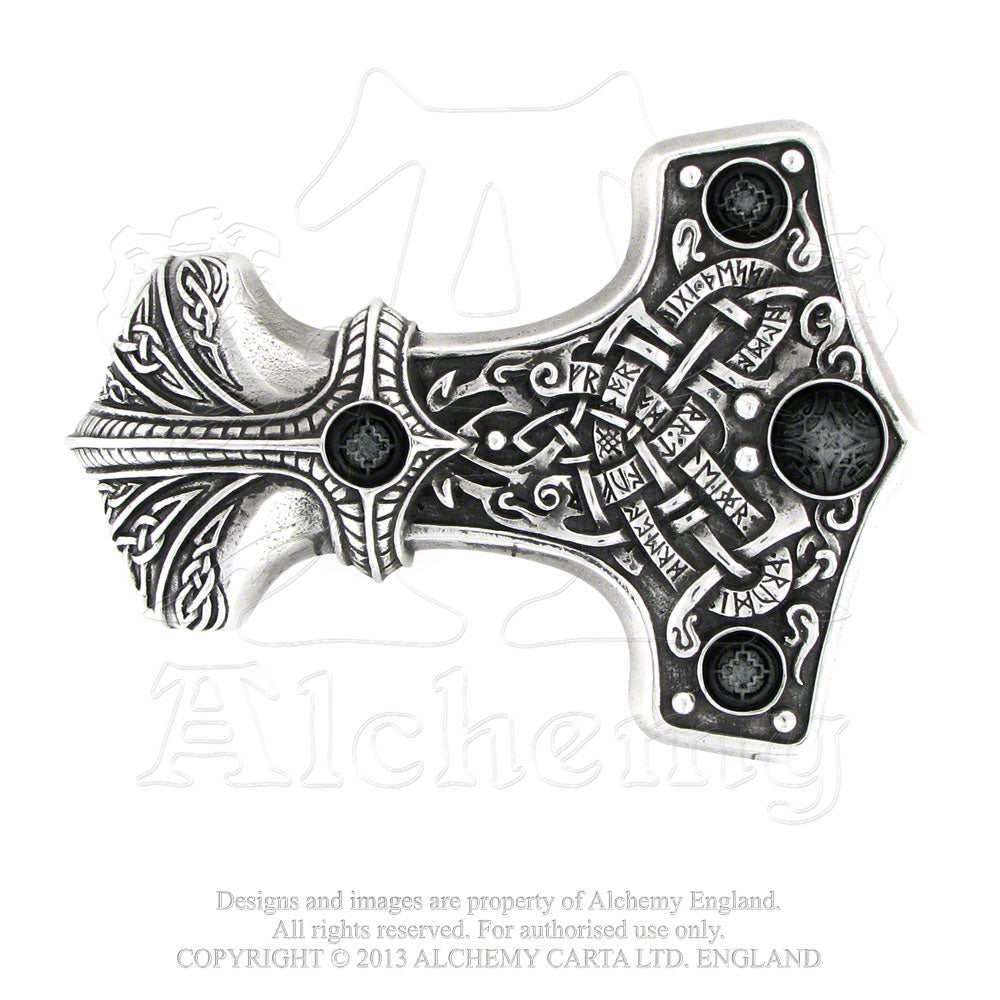 Alchemy Gothic Thunder Hammer Belt Buckle from Gothic Spirit