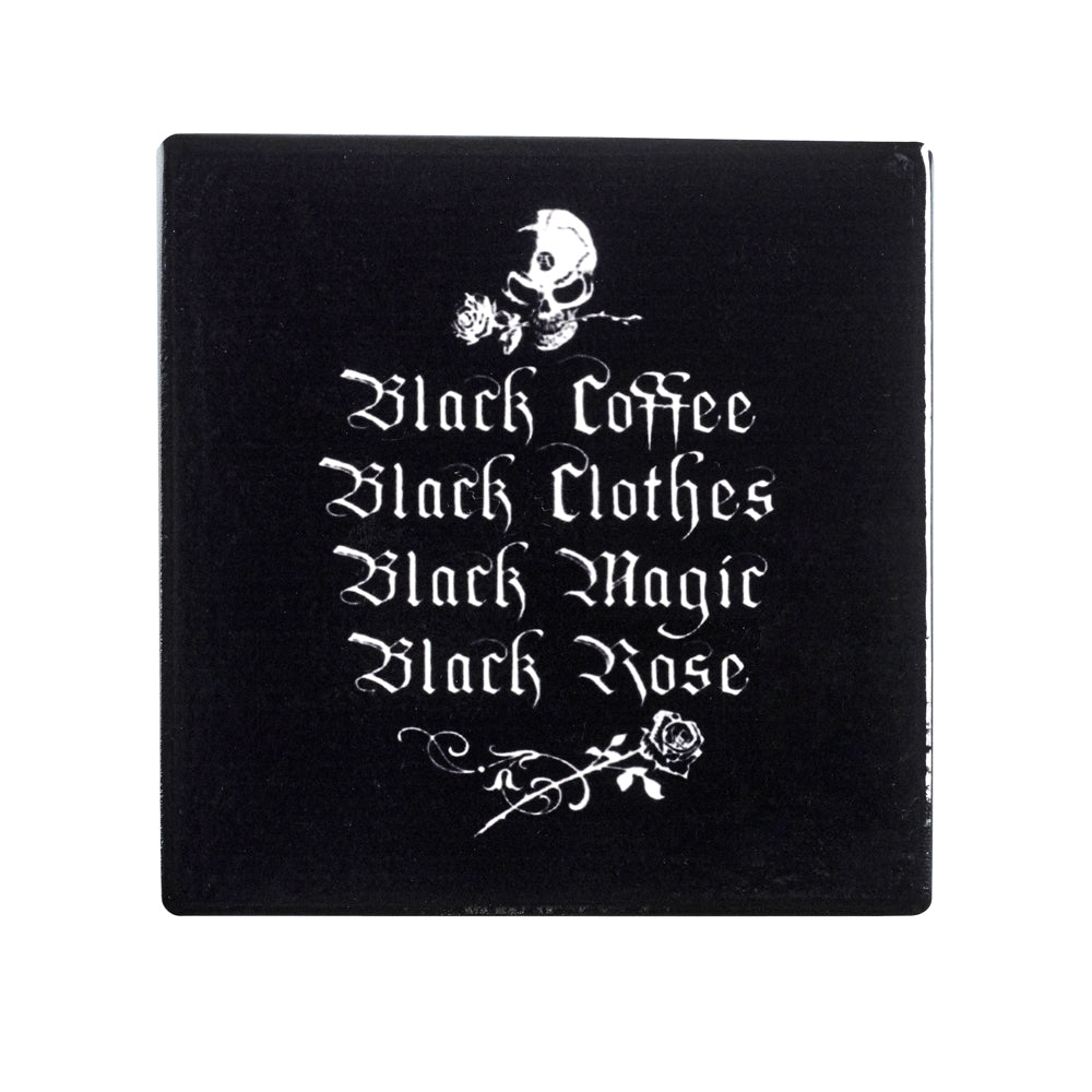 Alchemy Gothic Black Coffee Black Clothes... Coaster from Gothic Spirit