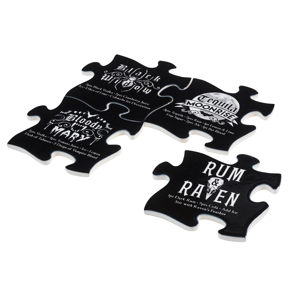 Alchemy Gothic Gothic Cocktail Jigsaw Coaster from Gothic Spirit