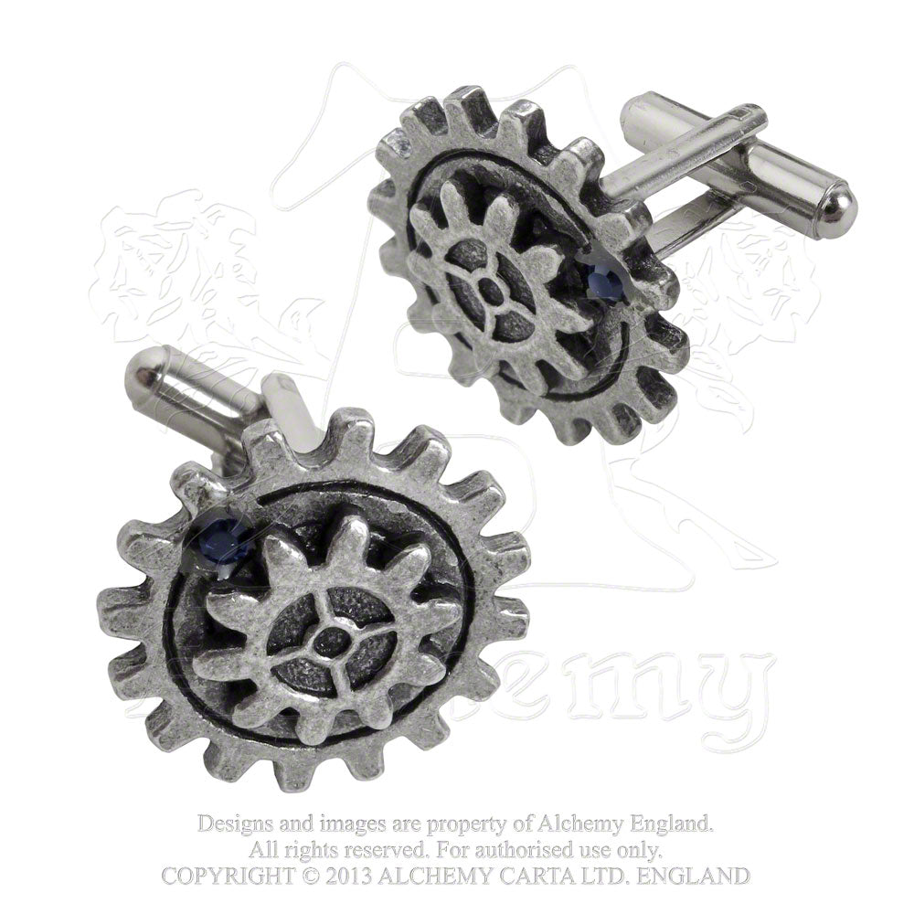 Alchemy Empire: Steampunk Empire Spur Gear Cufflinks from Gothic Spirit