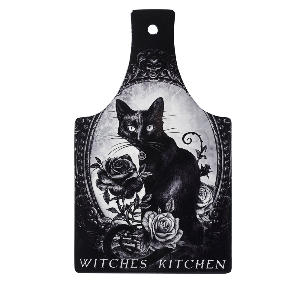 Alchemy Gothic Cat's Kitchen Trivet/Chopping board - Gothic Spirit