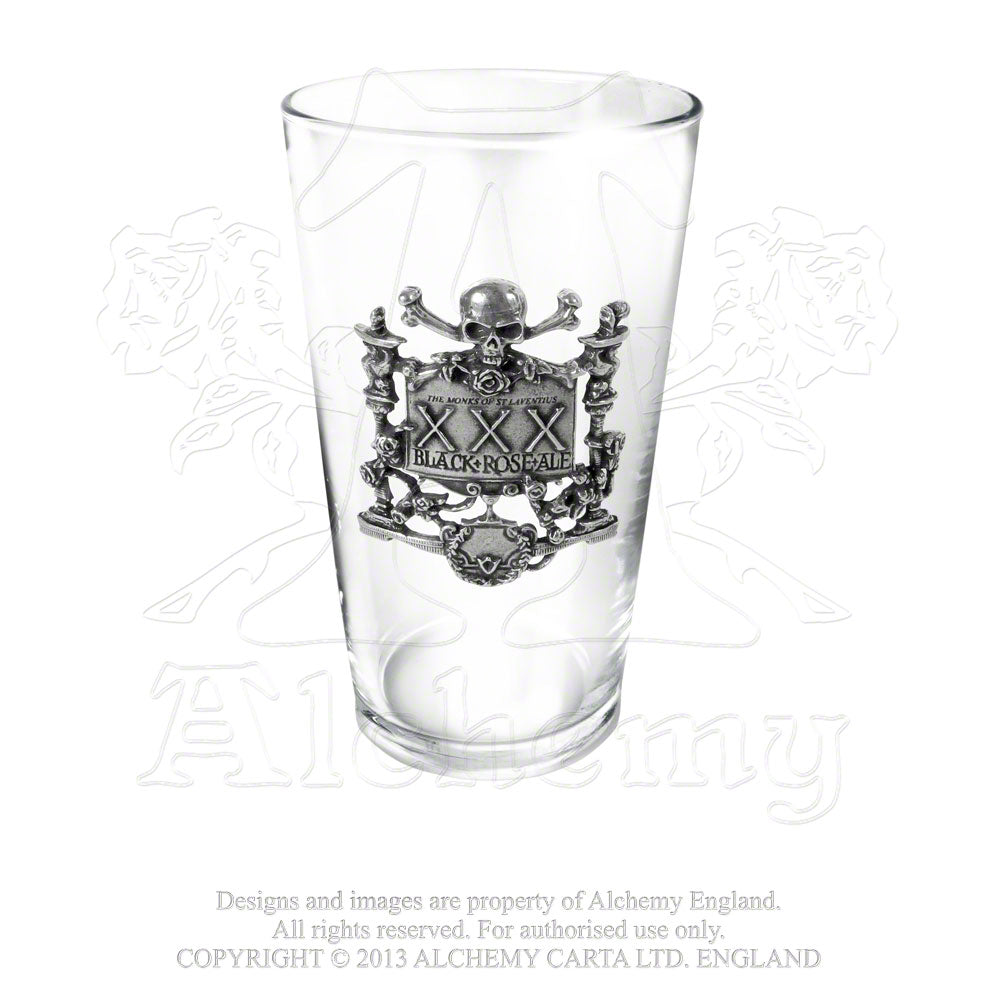 Alchemy Gothic Xxx Black Rose Ale Glass from Gothic Spirit