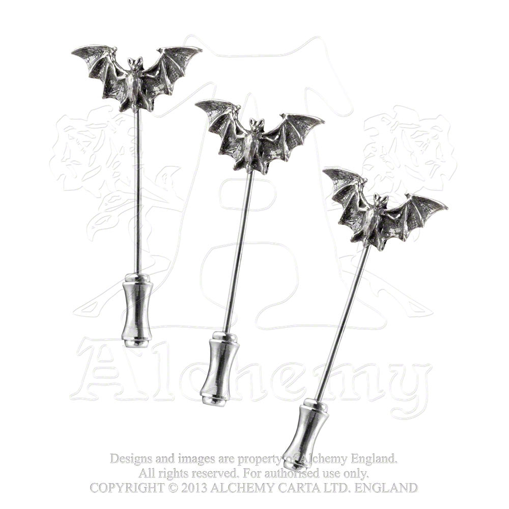 Alchemy Gothic Bat Dress Pins from Gothic Spirit