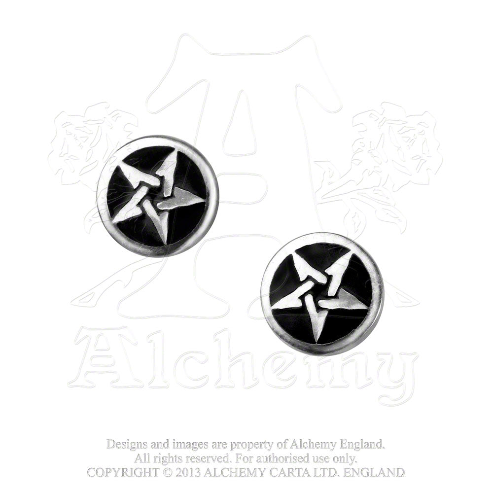 Alchemy Gothic Pentanoir Pair of Earrings - Gothic Spirit