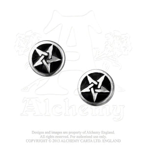 Alchemy Gothic Pentanoir Pair of Earrings from Gothic Spirit