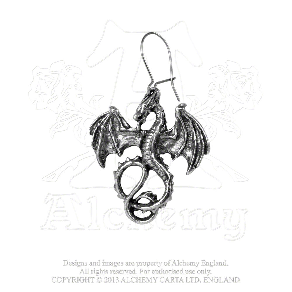 Alchemy Gothic Wyverex Single Earring - Gothic Spirit