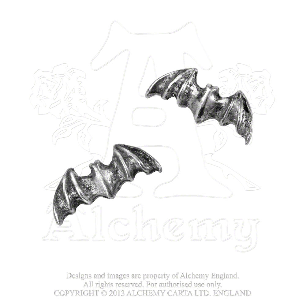 Alchemy Gothic Bat Pair of Earrings - Gothic Spirit
