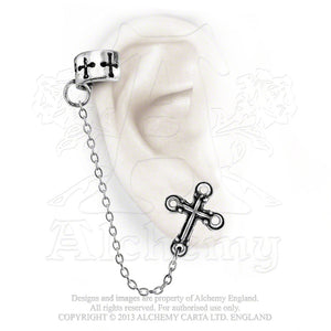 Alchemy Gothic Cross Single Earring from Gothic Spirit