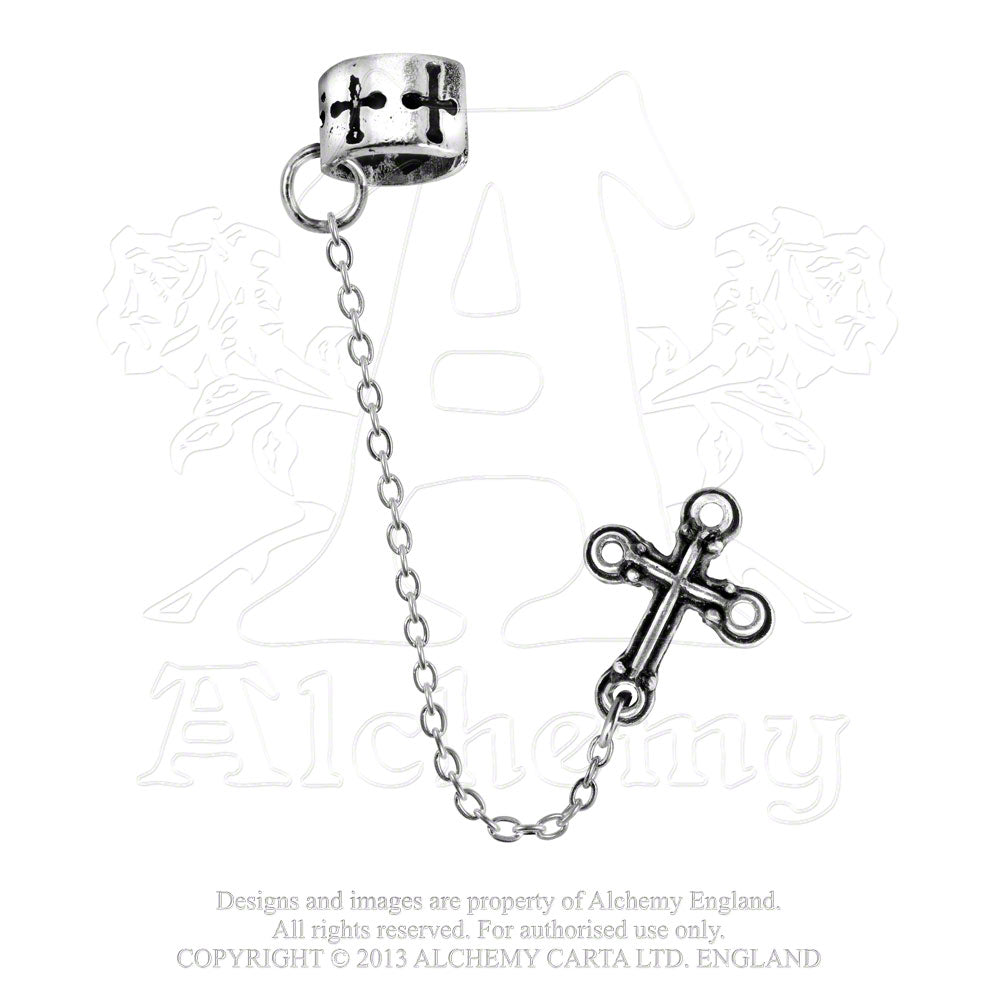 Alchemy Gothic Cross Single Earring - Gothic Spirit