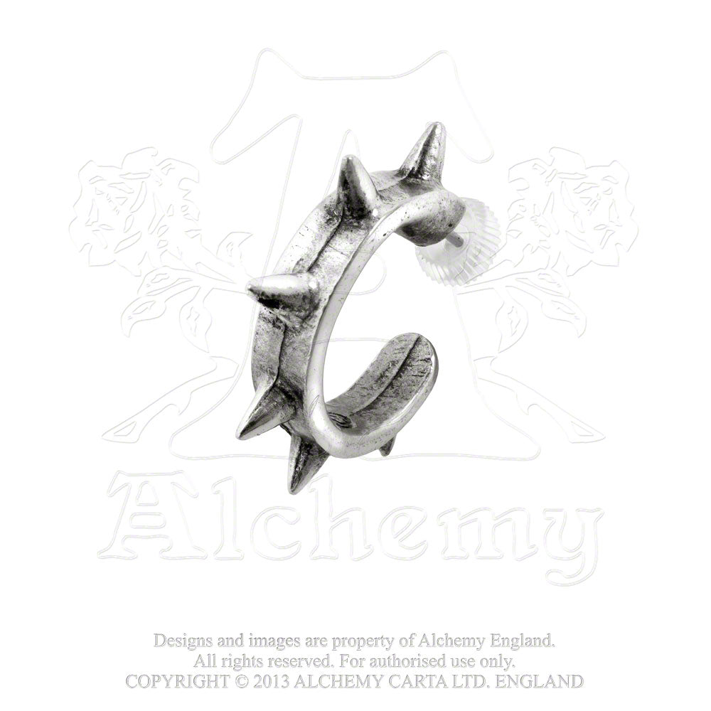 Alchemy Gothic Spike Cuff Single Earring - Gothic Spirit