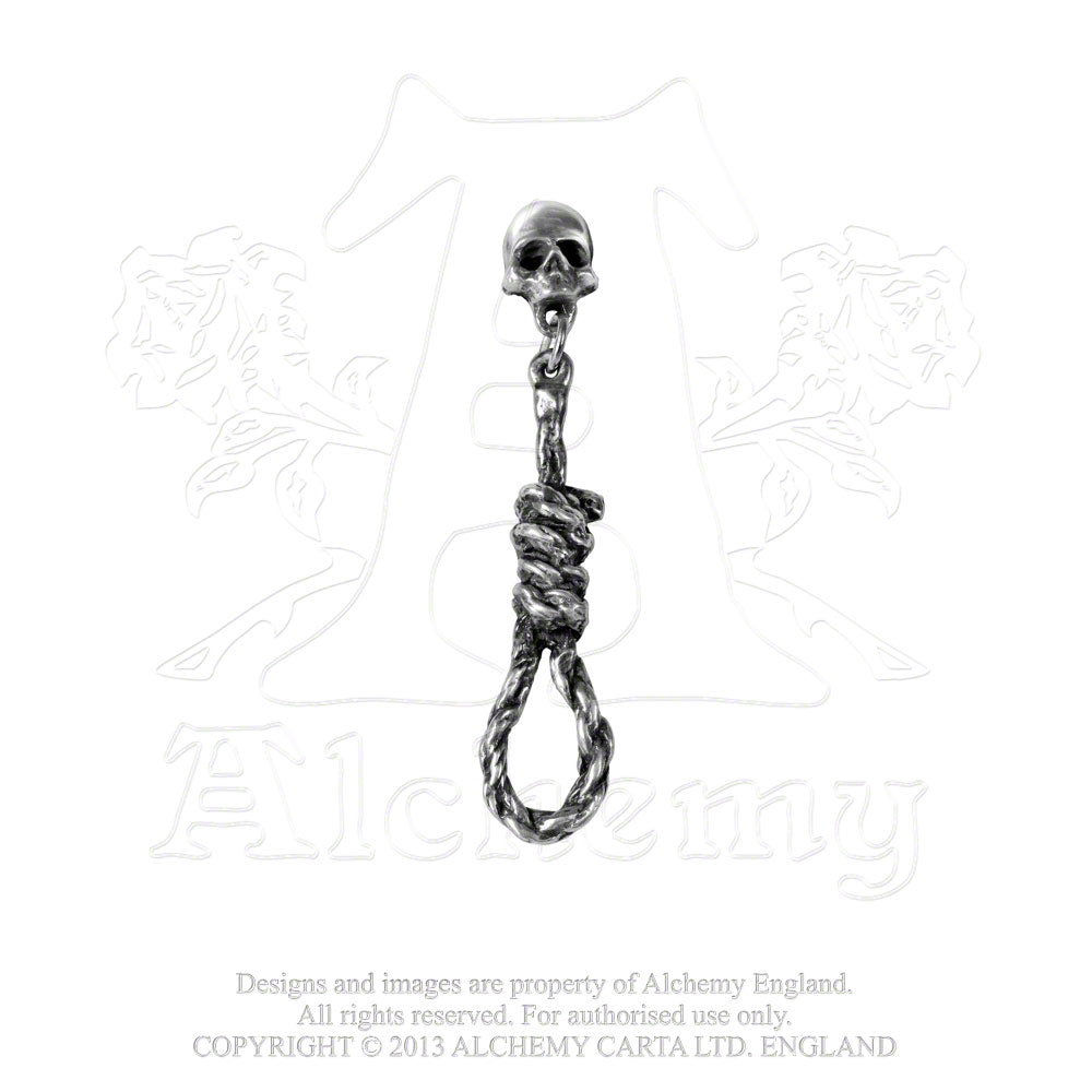 Alchemy Gothic Hang Man's Noose Single Earring - Gothic Spirit