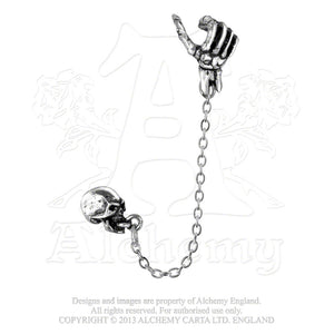 Alchemy Gothic Mortal Remains Single Earring from Gothic Spirit