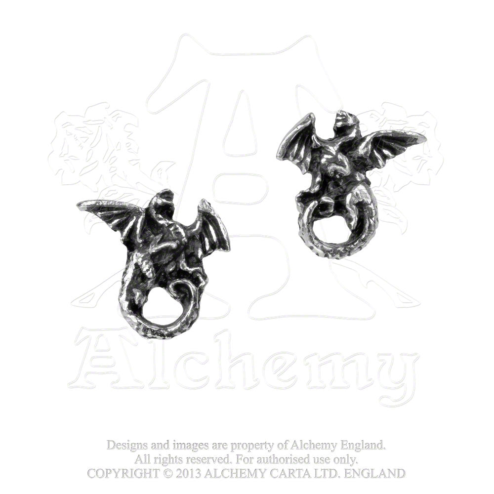 Alchemy Gothic Whitby Wyrm Pair of Earrings - Gothic Spirit