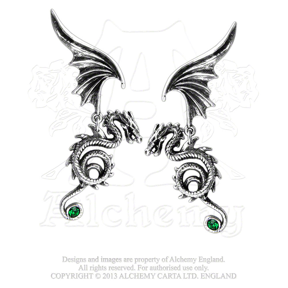 Alchemy Gothic Bestia Regalis Pair of Earrings - Gothic Spirit