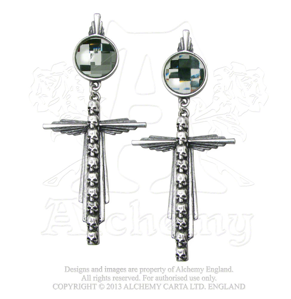 Alchemy Gothic Mort Etoile Droppers Pair of Earrings from Gothic Spirit