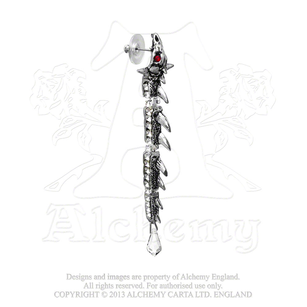 Alchemy Gothic Dragontine Single Earring from Gothic Spirit