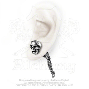 Alchemy Gothic Wraith Spine Faux Ear Stretcher Earring from Gothic Spirit