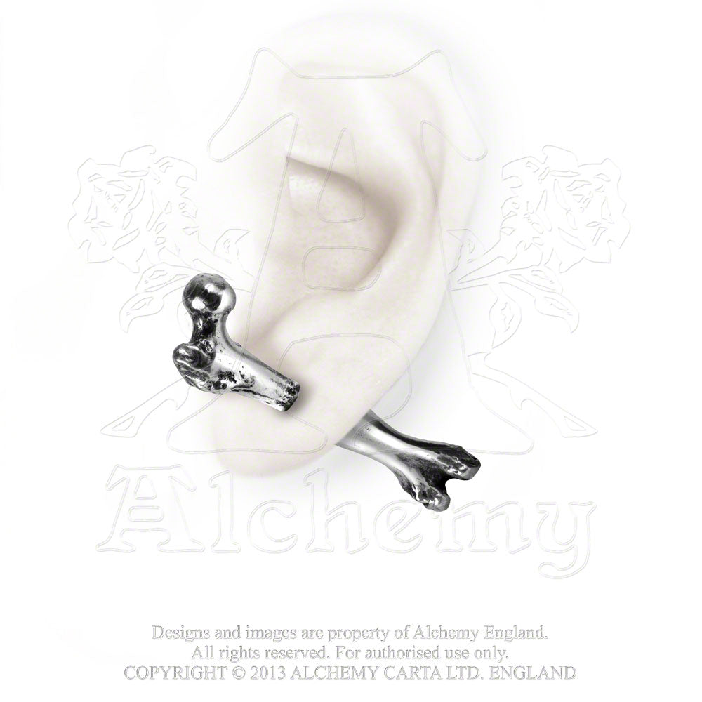 Alchemy Gothic Femur Bone Faux Ear Stretcher Earring - Gothic Spirit