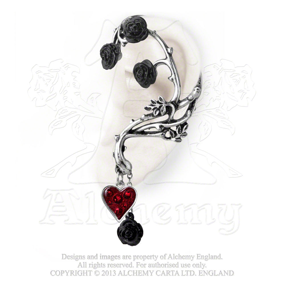 Alchemy Gothic Bed Of Blood Roses Ear Wrap - Gothic Spirit