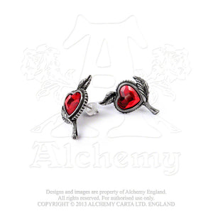 Alchemy Gothic Love's Blossom Pair of Earrings - Gothic Spirit