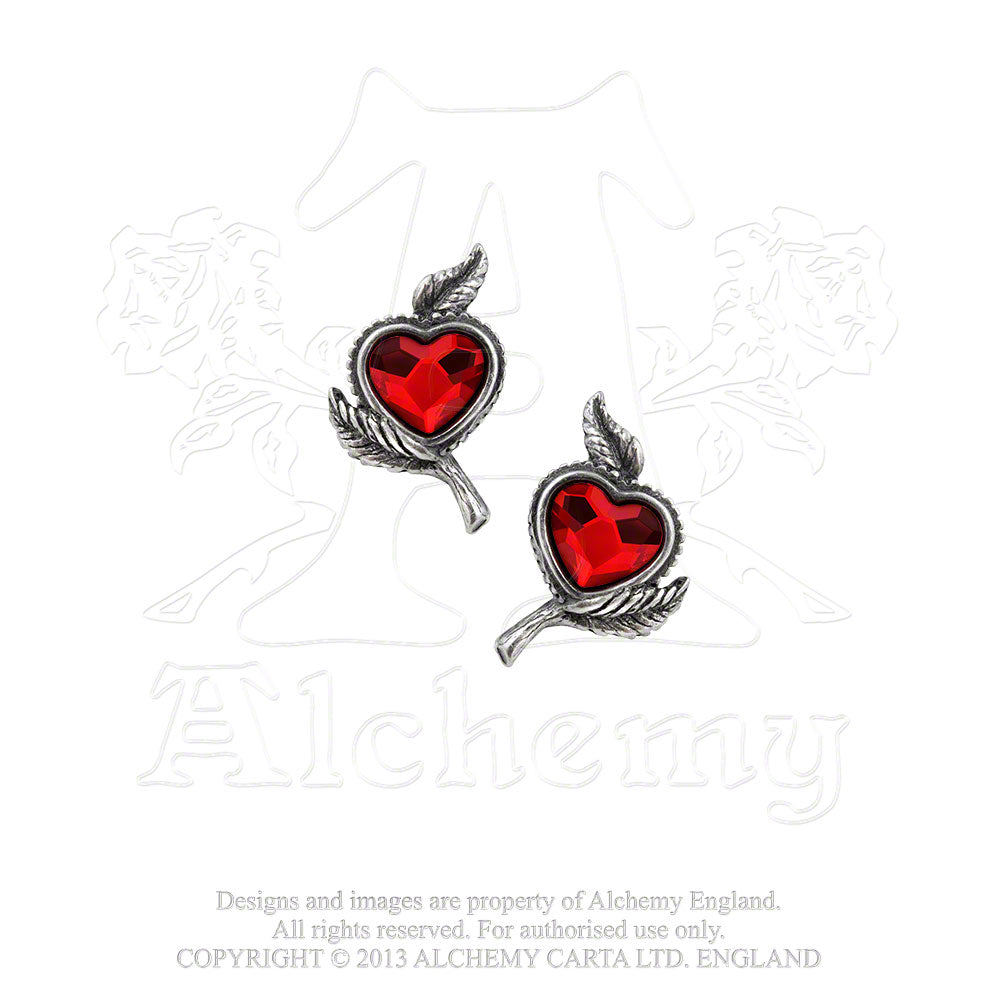 Alchemy Gothic Love's Blossom Pair of Earrings from Gothic Spirit