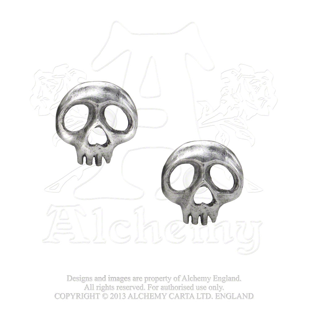 Alchemy Gothic Skully Pair of Earrings from Gothic Spirit