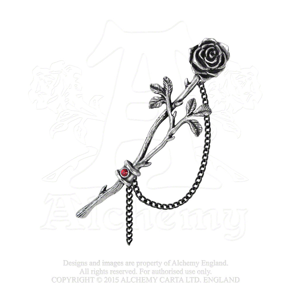 Alchemy Gothic Chained Love Rose Ear Wrap from Gothic Spirit