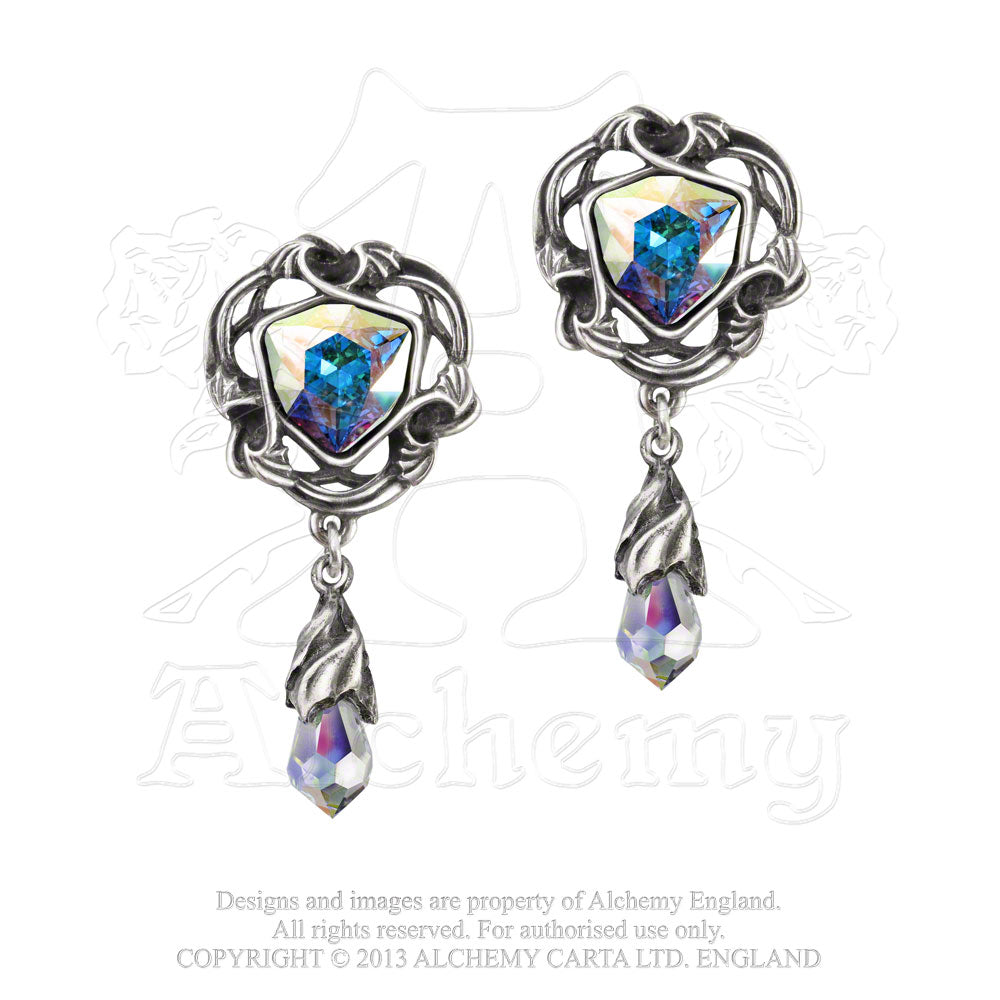 Alchemy Gothic Empyrian Eye: Tears From Heaven Pair of Earrings - Gothic Spirit
