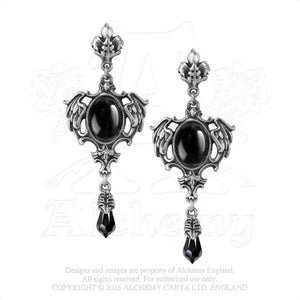 Alchemy Gothic Seraph of Darkness Pair of Earrings - Gothic Spirit