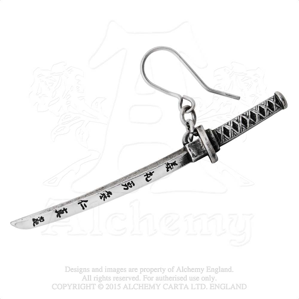 Alchemy Gothic Bushido Single Earring from Gothic Spirit