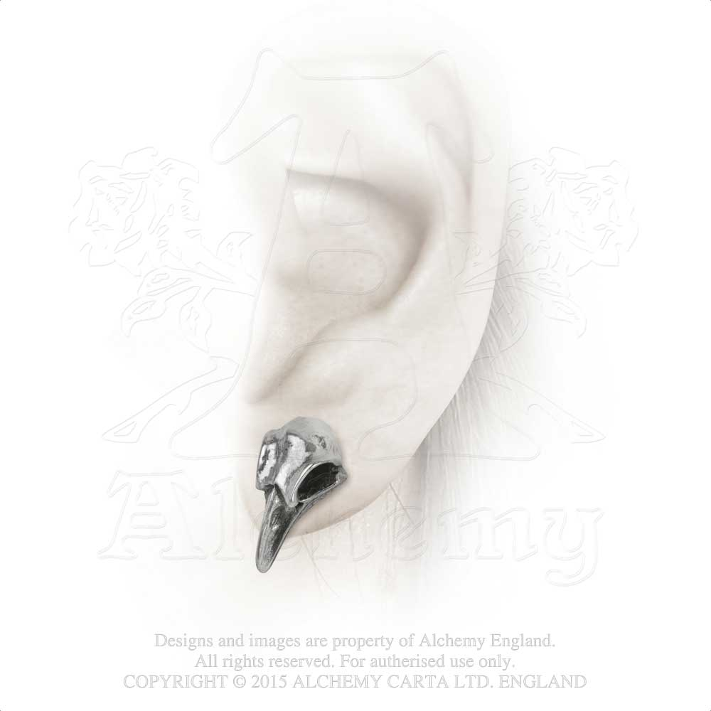 Alchemy Gothic Rabeschadel Pair of Earrings - Gothic Spirit