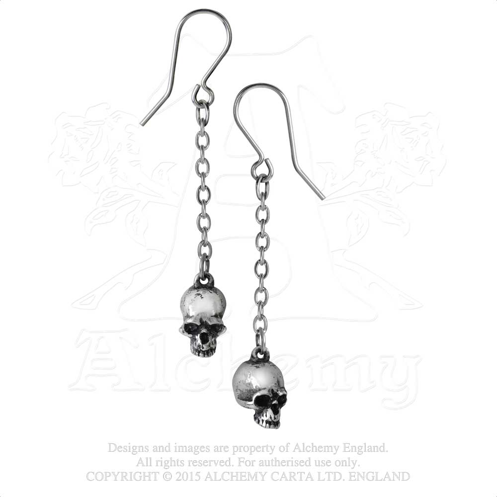 Alchemy Gothic Deadskull Pair of Earrings from Gothic Spirit